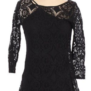 PERFECT FOR THE HOLIDAYS! FREE PEOPLE BLACK LACE DRESS NWT